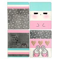 Тетрадь 48 листов в клетку Be happy, обложка мелованный картон, блок офсет, МИКС (комплект из 8 шт.)