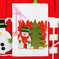 Набор для создания игрушки из фетра 'Снеговик'