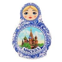 Магнит в форме матрёшки 'Москва'