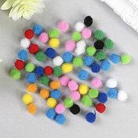 Помпоны для творчества, 10 цветов, 8 мм, (набор 60 шт)