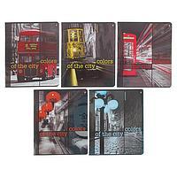 Тетрадь 48 листов в клетку 'Города. Контрасты NEW', обложка мелованный картон, УФ-лак, МИКС (комплект из 10