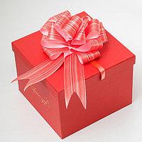 Бант-шар 4.5 'Тонкие полосы', цвет красный (комплект из 20 шт.)