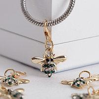 Шарм 'Пчёлка' труженица, цвет бело-зелёный в золоте (комплект из 5 шт.)