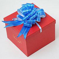 Бант-шар 4.5 'Тонкие полосы', цвет синий (комплект из 20 шт.)