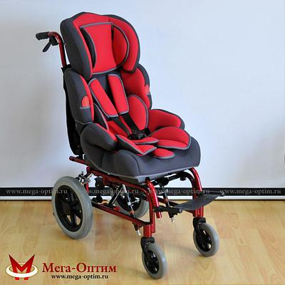 Инвалидная коляска FS 985 LBJ Мега-оптим красная