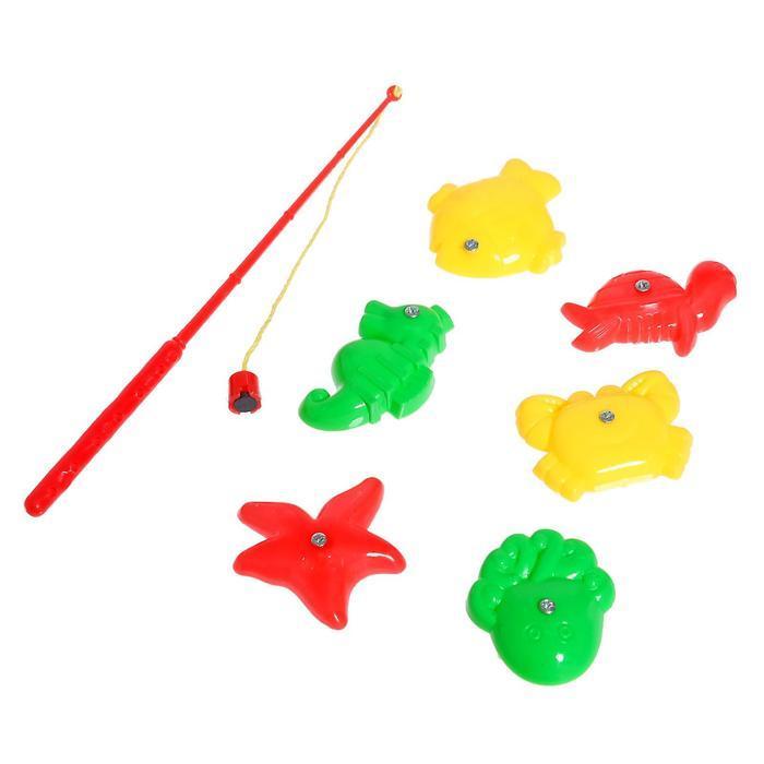 Рыбалка 'Ловись рыбка' 1 удочка, 6 рыбок, МИКС - фото 3