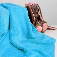 Лоскут для рукоделия 50*50см мех цвет голубой