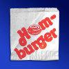 Пакет бумажный 13,5х13см белый с рисунком для гамбургеров 1000 шт/уп