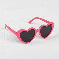 Очки для куклы 'Сердечки', набор 2 шт., с тёмными и прозрачными линзами, цвет оправы розовый