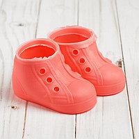 Ботинки для куклы 'Шик', длина подошвы 9,5 см, 1 пара, цвет розовый
