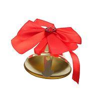 Колокольчик с красным бантом со стразой, d3,6 см (комплект из 10 шт.)
