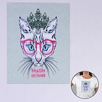 Пришивная аппликация 'Кошка в очках', 3D, 27 x 20 см