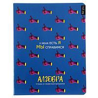 Тетрадь предметная 'Не ты', 48 листов в клетку 'Алгебра', обложка мелованный картон, выборочный Уф-лак, блок