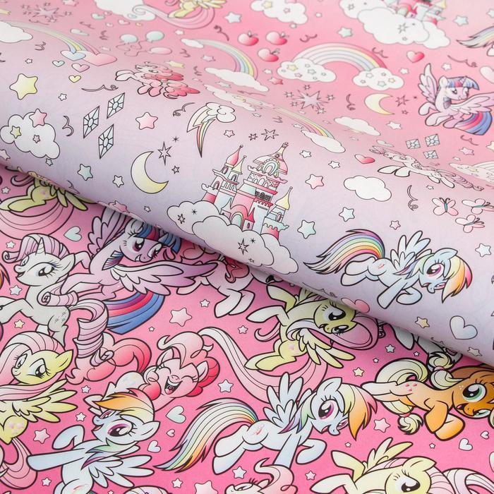 Бумага упаковочная глянцевая двусторонняя, My Little Pony, 60x90 см (комплект из 10 шт.) - фото 1