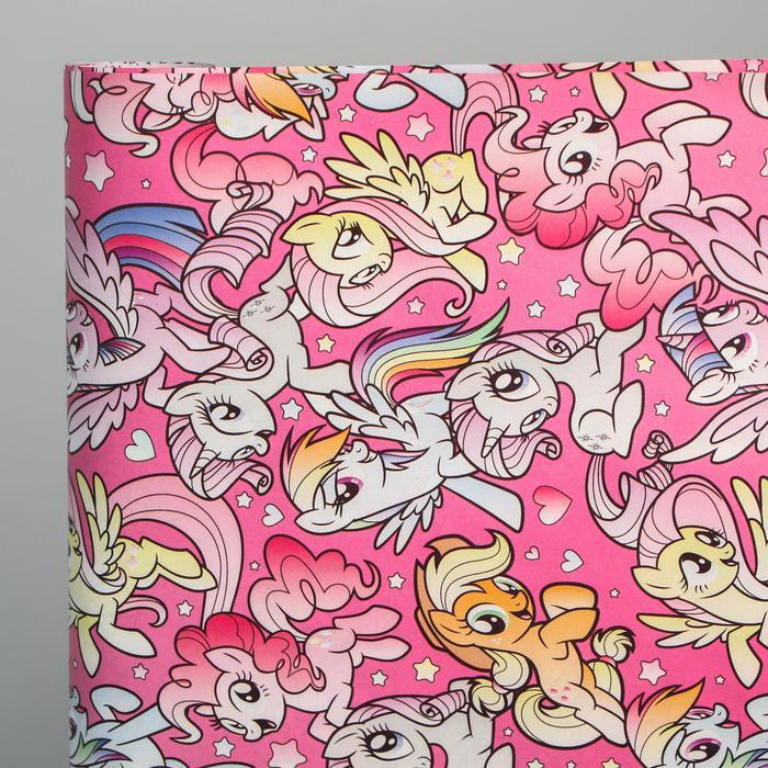 Бумага упаковочная глянцевая двусторонняя, My Little Pony, 60x90 см (комплект из 10 шт.) - фото 3