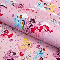 Бумага упаковочная глянцевая двусторонняя, My Little Pony, 60x90 см (комплект из 10 шт.)