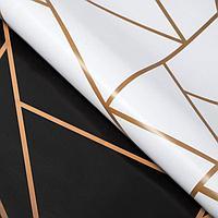 Бумага упаковочная двухстороняя глянцевая 'Линии', 50 х 70 см (комплект из 10 шт.)