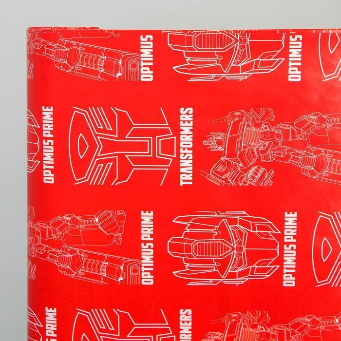 Бумага упаковочная глянцевая двусторонняя, Трансформеры, 60x90 см (комплект из 10 шт.) - фото 3
