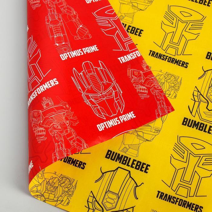 Бумага упаковочная глянцевая двусторонняя, Трансформеры, 60x90 см (комплект из 10 шт.) - фото 4
