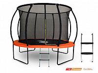 Батут GLOBAL PRO 10 футов (305 см) с внутренней сеткой, держателями и лестницей