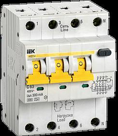 Автоматический выключатель дифференциального тока АВДТ 34 С63 300мА  ИЭК