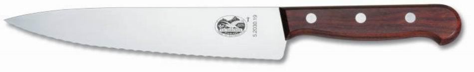 Столовый нож VICTORINOX Мод. CARVING KNIFE SERRATED ROSEWOOD #5.2030.12 (19см), R18950