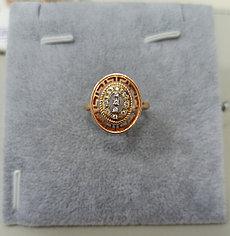 Золотое кольцо с фианитом / размер 18