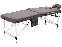 Массажный стол складной алюминиевый JFAL01A 2-х секционный серый