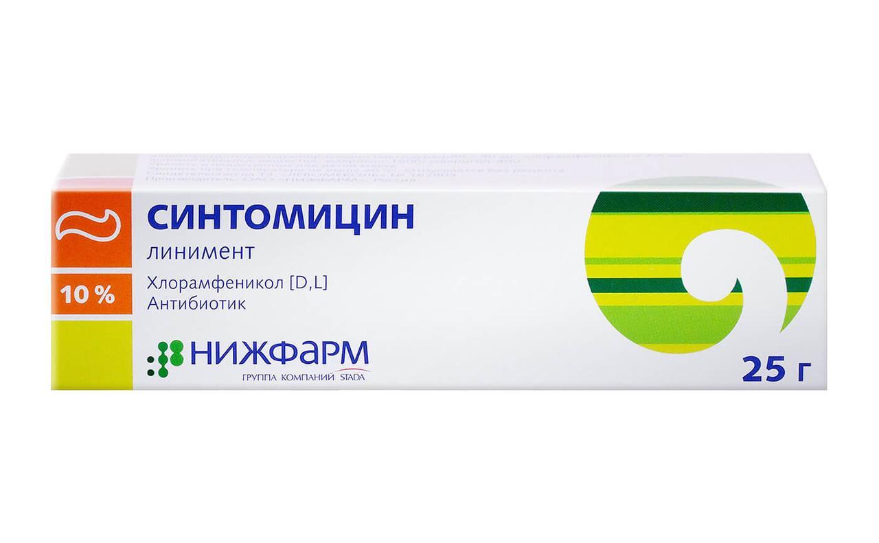 Синтомицина линимент 10% 25 г Нижфарм
