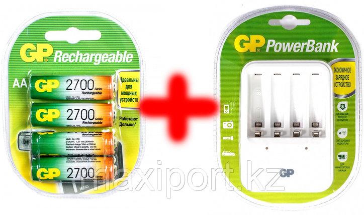 Зарядное устройство с аккумуляторами AA 2700mah GP (оригинал), фото 2