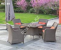 Комплект мебели из искусственного ротанга 100х100х75см
