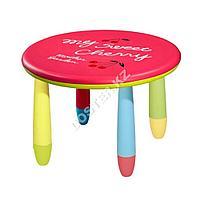 Круглый стол пластиковый