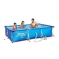 Прямоугольный каркасный бассейн BestWay 300х201х66 см
