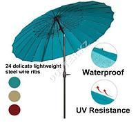Уличный зонт круглый (березовый)
