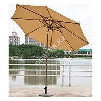 Уличный зонт круглый 2,7м (бежевый, зеленый)