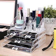 Уценка (товар с небольшим дефектом) Органайзер-стойка для косметики с 4 ящичками, фото 2