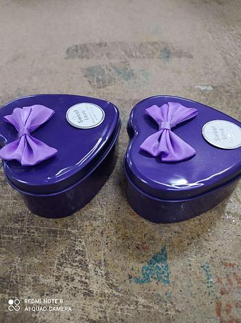 Уценка (товар с дефектом) Ароматизированное мыло для ванны Розы с лепестками 6 шт фиолетовый набор., фото 2