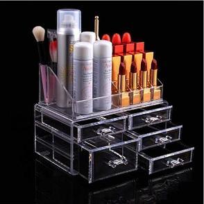 Уценка (товар с небольшим дефектом) Органайзер-стойка для косметики с 5 ящичками, фото 2