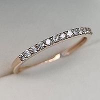 Золотое кольцо с бриллиантами 0.18Сt VS2/H, фото 1