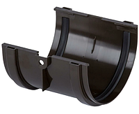 Соединитель желоба Дёке(Docke) 120 мм Коричневый