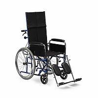 Кресло-коляска для инвалидов Н 008, черный/синий