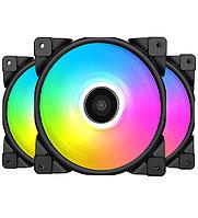 Комплект вентиляторов PCCooler, HALO FRGB KIT, 3 in 1 Fan kit for case, 12cm x 3, 1000-2000rpm, 36-72CFM, 29.1