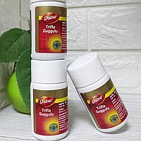 Трифала Гуггул Дабур (Trifla Guggulu DABUR) - для ЖКТ, крови, печени, очищение организма, 40 таб