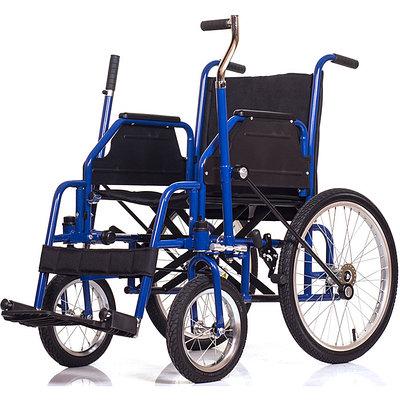 Кресло-коляска с двуручным рычажным приводом Ortonika Base 145, черный/синий