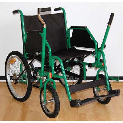 Рычажная инвалидная коляска 514 AС, черный/зеленый