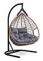 Подвесное двухместное кресло-кокон FISHT горячий шоколад