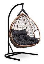 Подвесное двухместное кресло-кокон FISHT горячий шоколад, фото 2