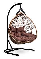 Подвесное двухместное кресло-кокон FISHT горячий шоколад, фото 3