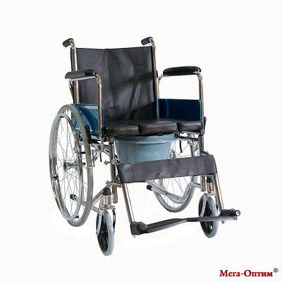 Инвалидная коляска FS 682 со съемным U-образным вырезом (с санитарным оснащением)