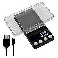 Электронные весы повышенной точности с аккумулятором до 500 г.